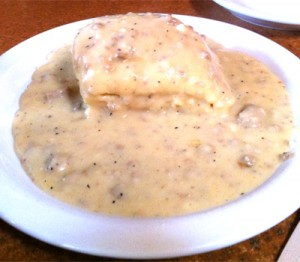 Biscuit and Sausage Gravy at Gravy restaurant in Portland, OR