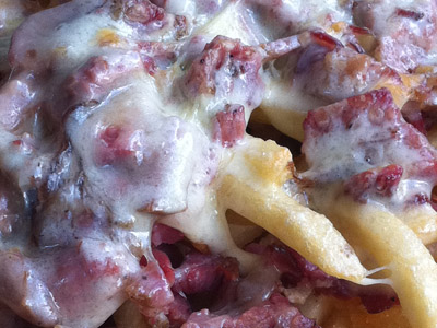 Kenny and Zuke's Delicatessen in Portland, Oregon - Pastrami Cheese Fries - Close-Up