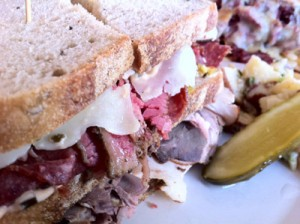 Kenny and Zuke's Delicatessen in Portland, Oregon - Pastrami Close-Up