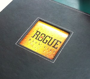 The Beer List at Rogue Distillery and Ale House in Portland, OR
