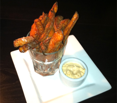Casa Naranja's Yam Fries with Lemon Cayenne Aioli in Portland, Oregon