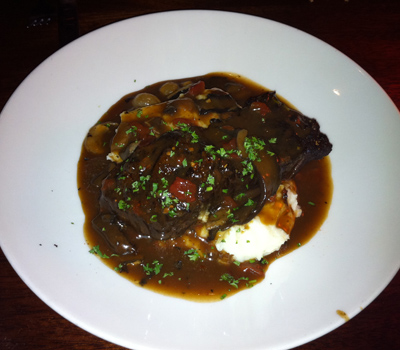 Rock Bottom Brewery's Overnight Braised Short Ribs and White Cheddar Mashed Potatoes in Portland, OR