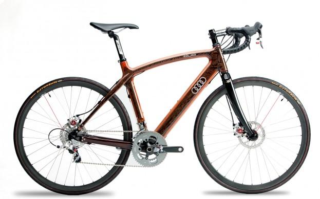 Renovo and Audi give Portland wood bikes.