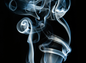 Curling smoke trails