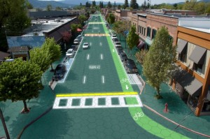 sandpoint idaho stumped in stumptown 300x199 Imagine Portland with Solar Freakin Roadways