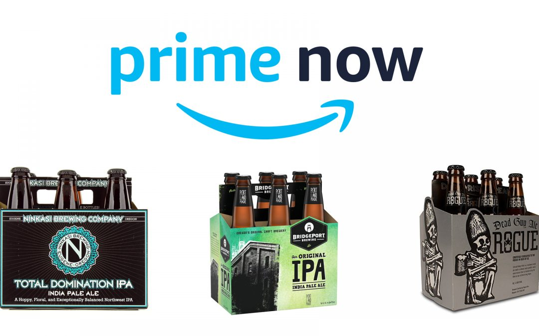 Time to get your drink on! Amazon delivers beer and wine to Portland in two hours or less!
