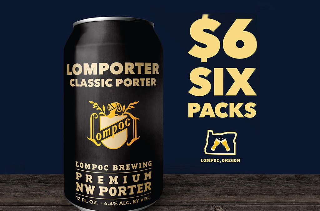 Lompoc Brewing throws Lomporter $6 six pack party on Friday, October 13, 2017